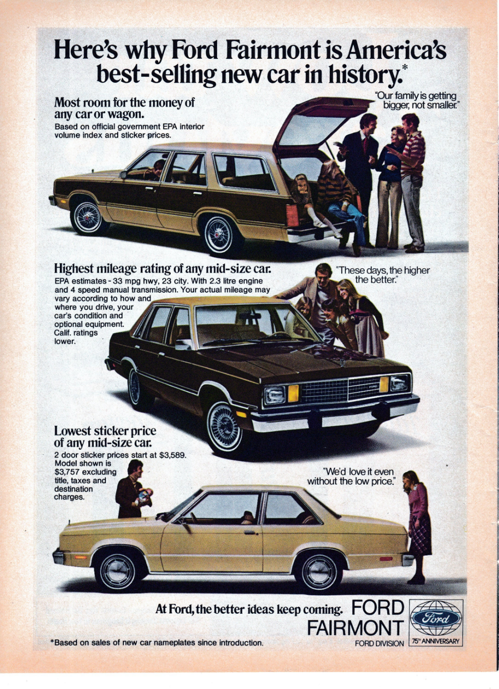 1978 Ford Fairmont Best Selling New Car In History Etsy