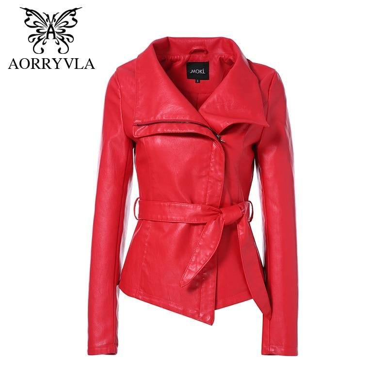 a4f936582 AORRYVLA Hot Jackets For Women Spring 2019 Brand Leather Jacket ...