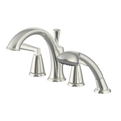 Ultra Faucets Z Double Handle Deck Mounted Roman Tub Faucet With