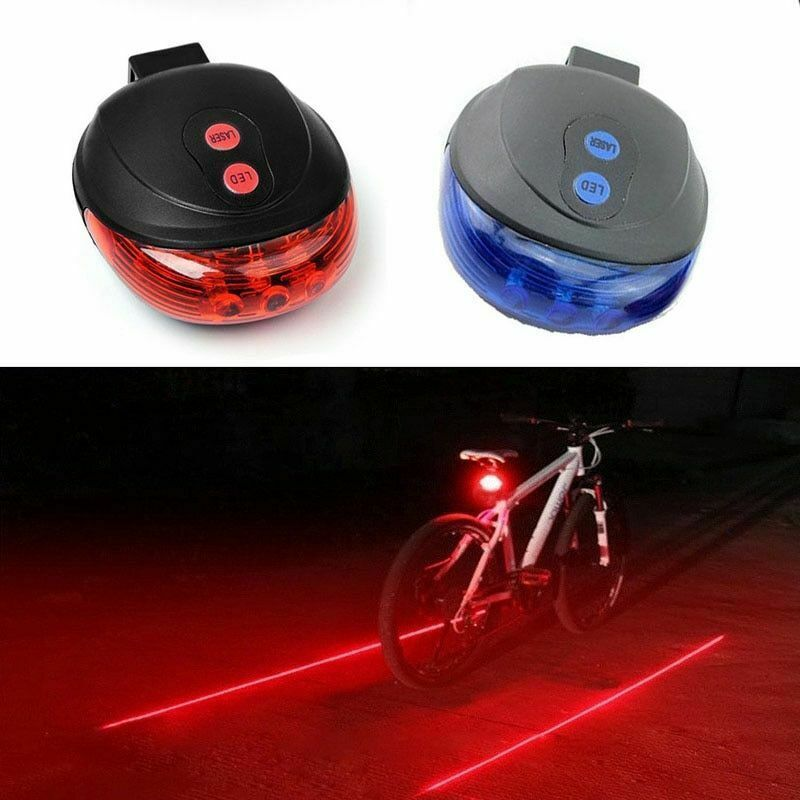 3 LED Clip On Running Bike Rear Safety Warning Tail Light Flashing Cycling Lamp