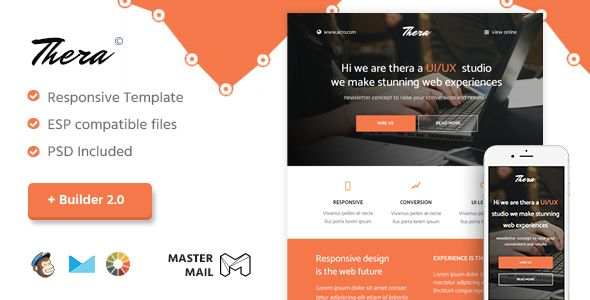 Thera - Responsive Email Template + Builder 20  Thera has - responsive email template
