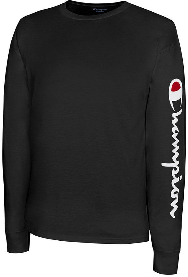 4879bfedc8299 Champion Men s Jersey Script Long-Sleeve T-Shirt
