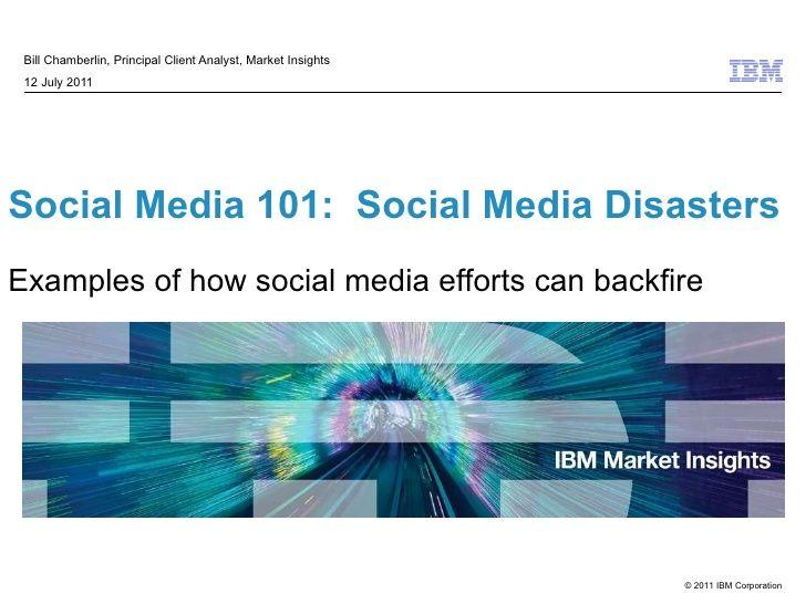 Social Media Disasters by IBM