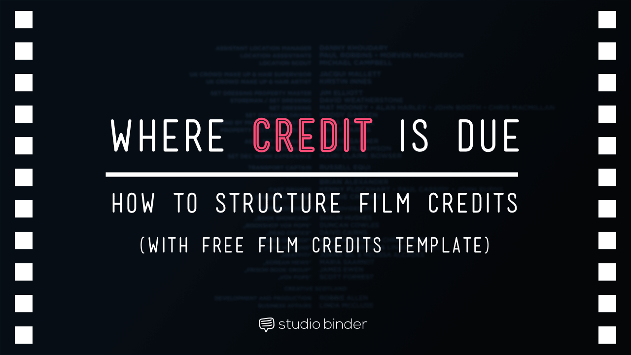 The Ultimate Guide To Film Credits Order Hierarchy With Template Film Credits Film Free Films