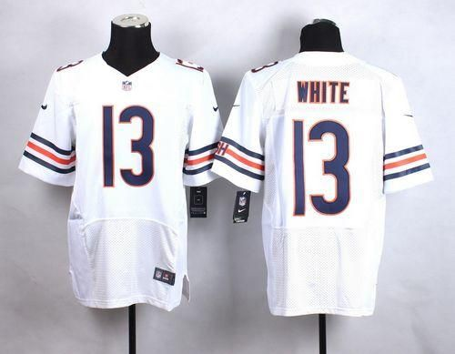 Discount Nike Bears #13 Kevin White White Men's Stitched NFL Elite Jersey And  supplier