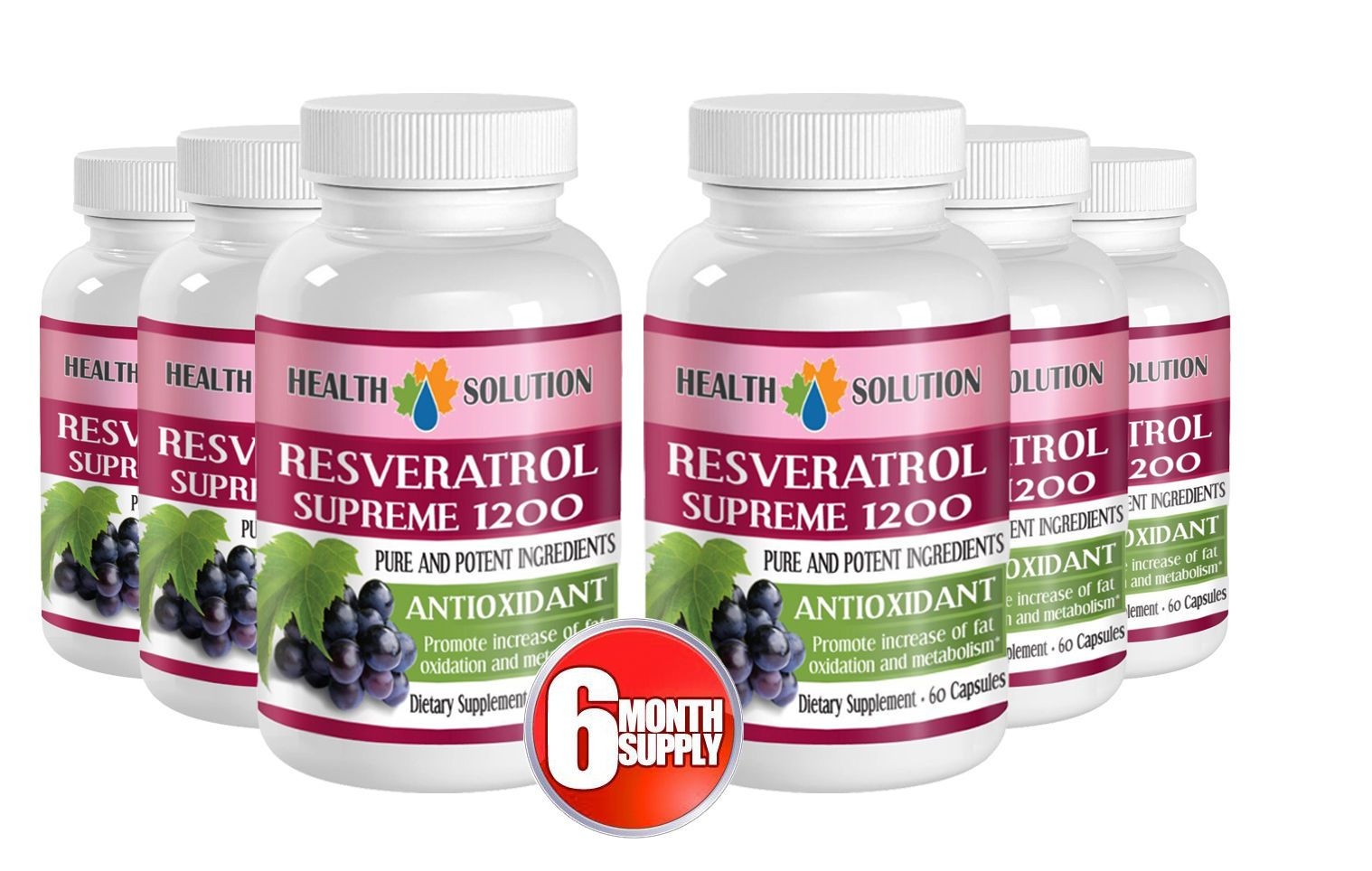 Resveratrol Supreme 1200mg Resveratrol Powder Increase Metabolism Pills 1b