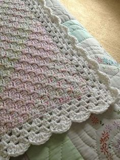 bordure de couverture au crochet