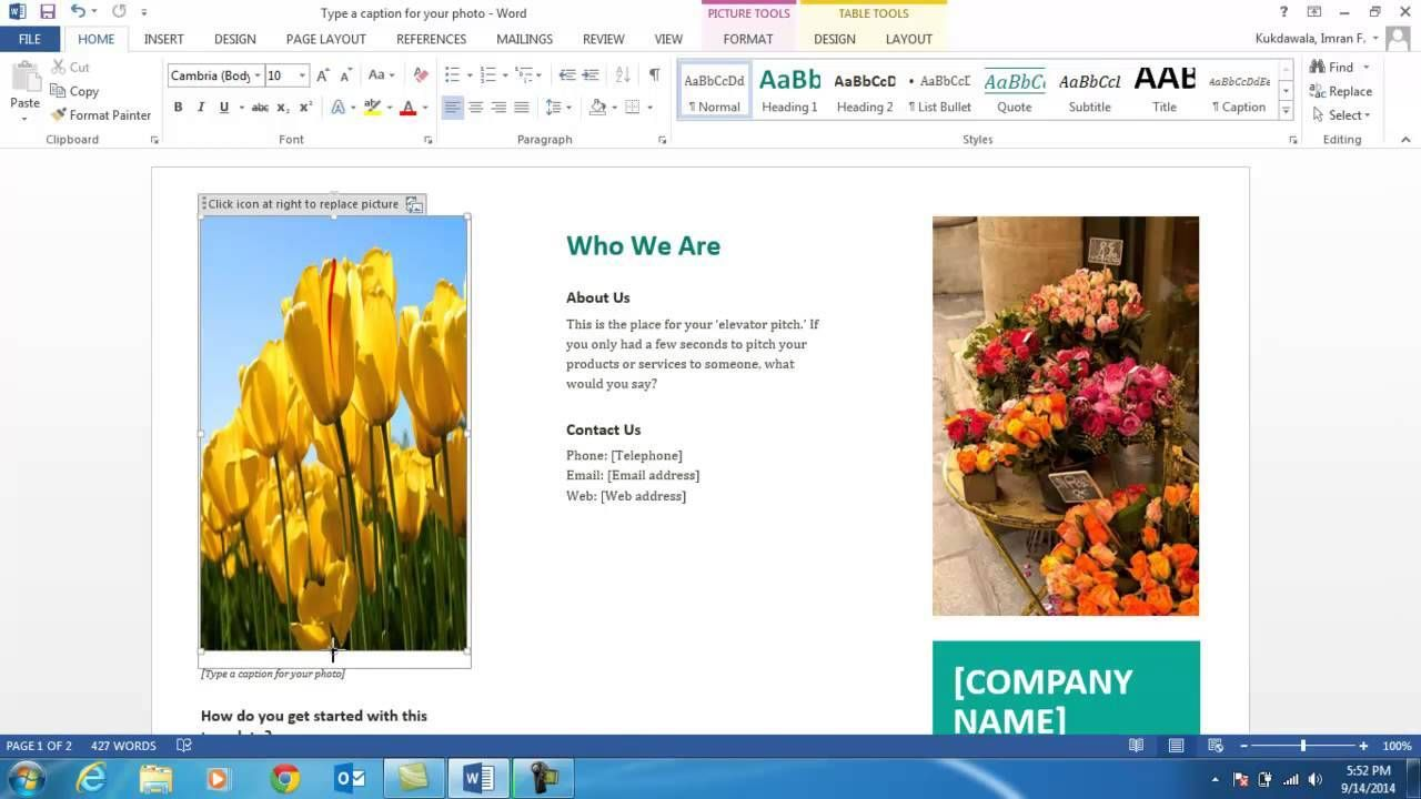 How To Make A Brochure On Microsoft Word Pamphlet Create In Office Word Brochure Template Profession How To Make Brochure Create A Brochure Brochure Template