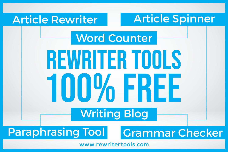 100 Free Article Rewriter Tool Paraphrase Rewrite Content English Generator