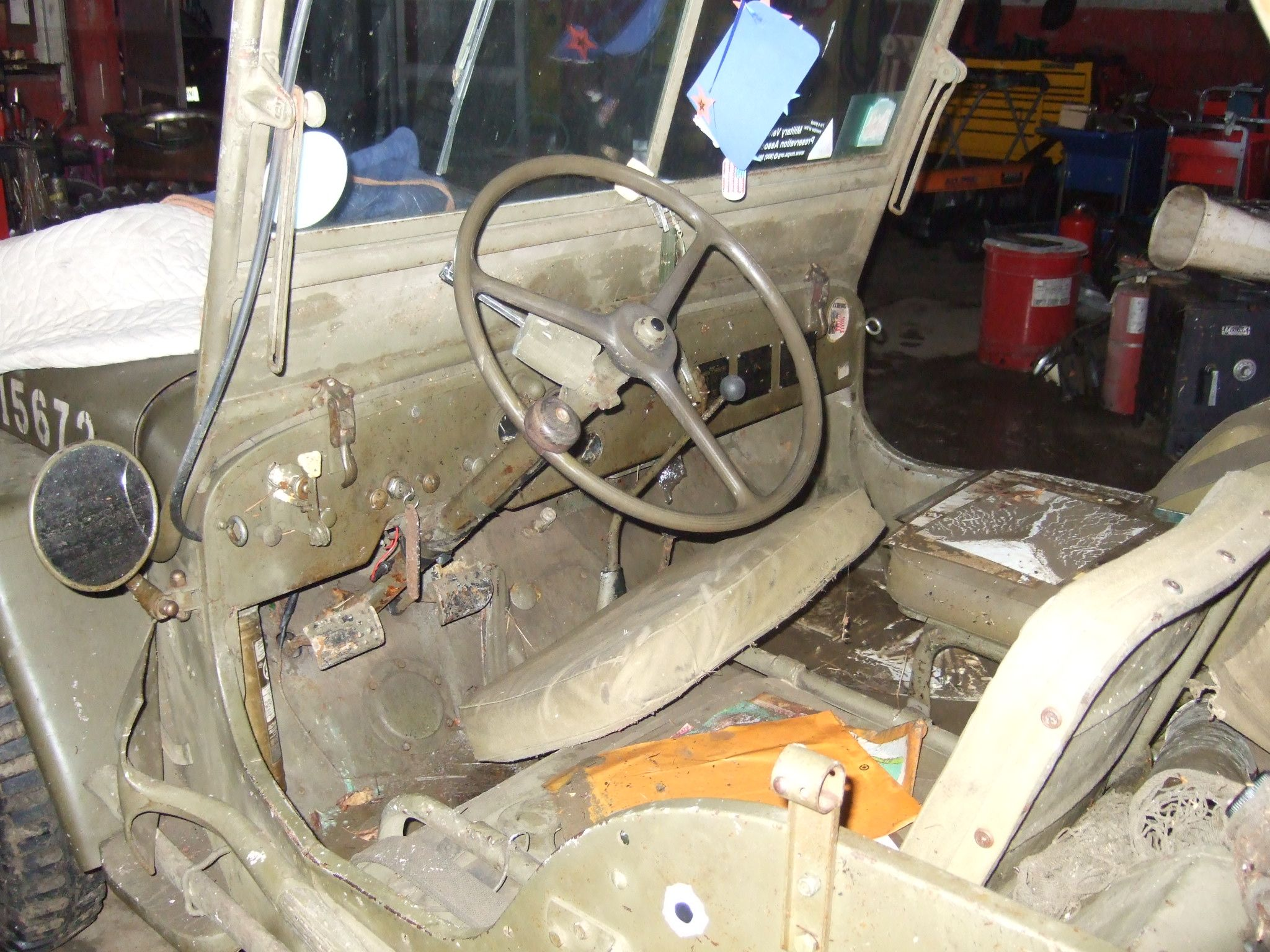 The interior of Bernard\'s 1941 Willys MB US Army Jeep was ruined by ...