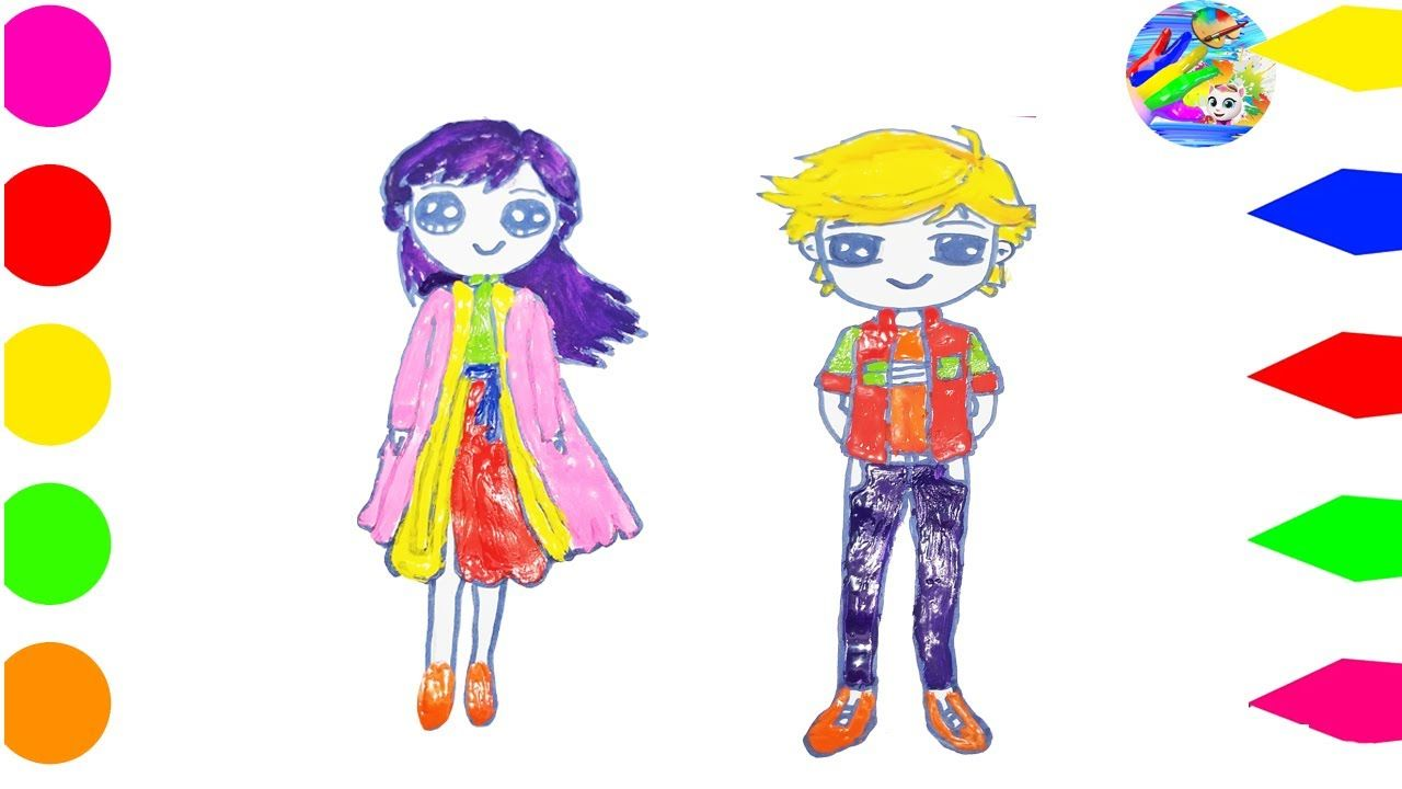How To Draw Anna And Adrien Agreste
