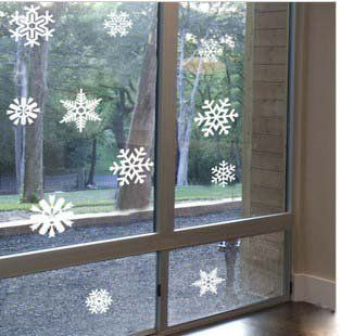 Free Shipping Flying Snow Winter Christmas Eve Glass Door Sticker Sticker  Ideas Decoration Wall Sticker