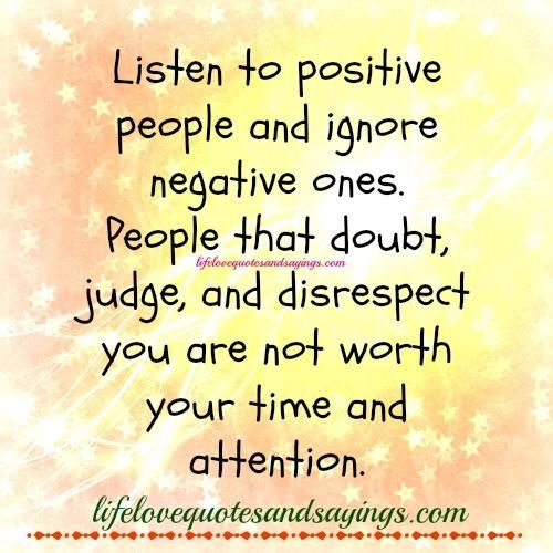 People Not Listening Quotes Quotesgram Negativity Quotes Negative People Quotes Listening Quotes