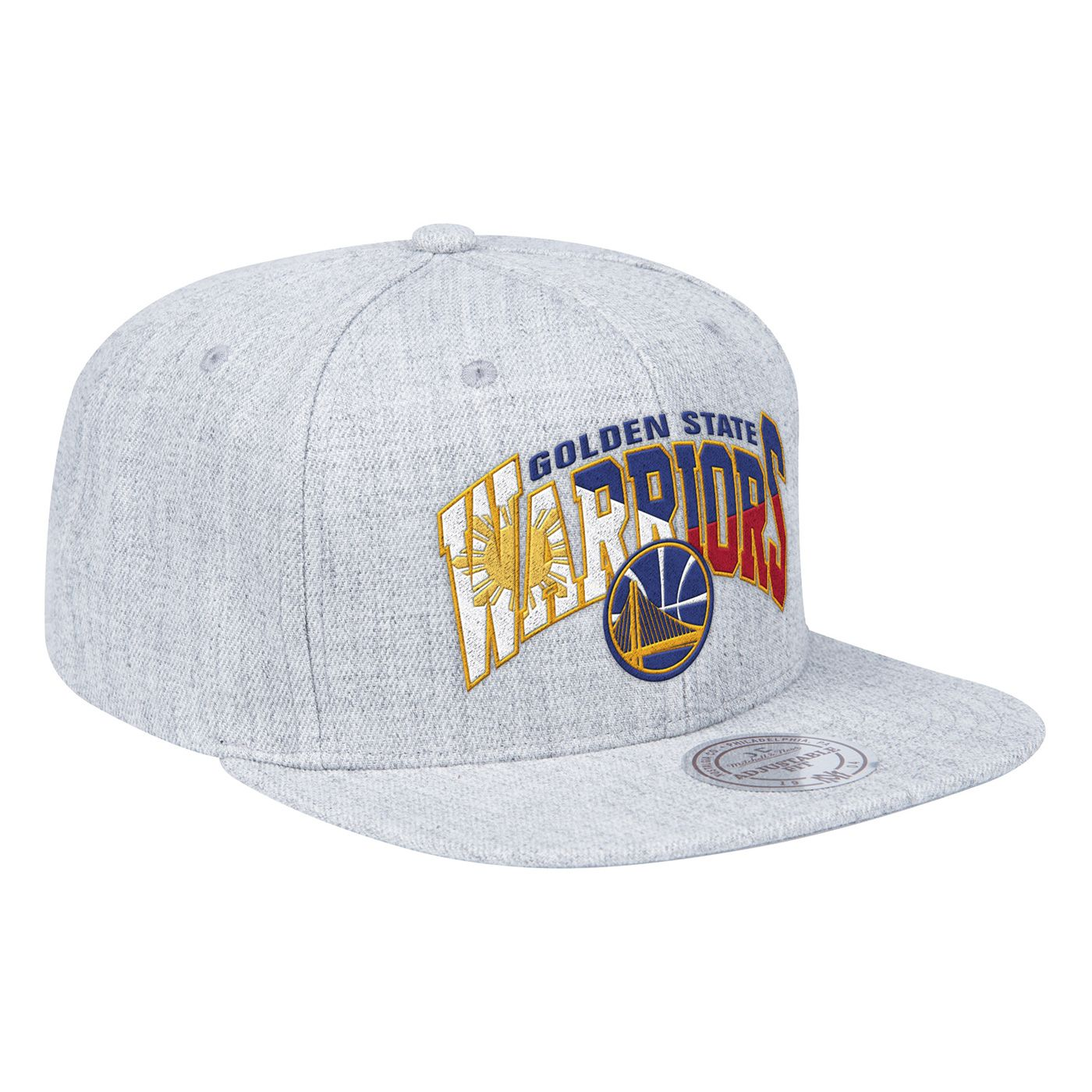 newest 9c3a3 fde46 Golden State Warriors Mitchell   Ness Filipino Heritage Hardwood Classics  Flat Brim Snapback Hat - Grey - Golden State Warriors - Official Online  Store