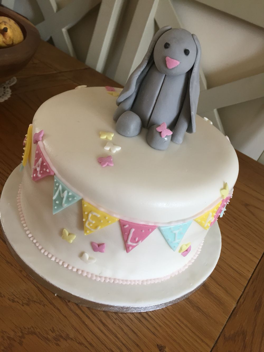 Bunny cake. Jellycat bunny. Girl birthday cake. Birthday
