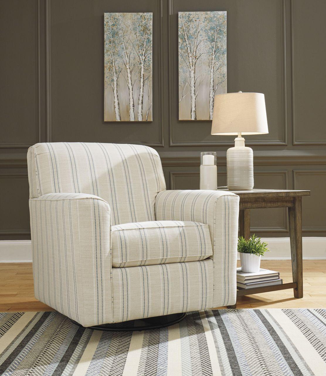 Alandari Gray Swivel Glider Accent Chair Accent chairs