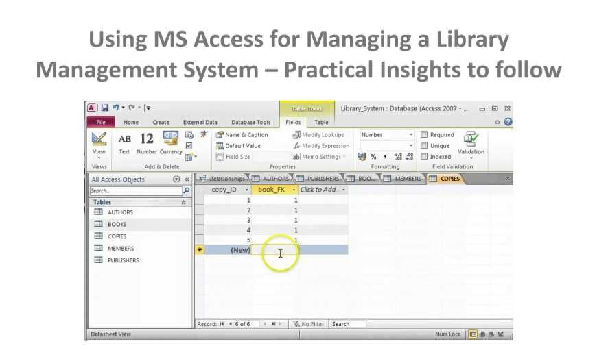 How To Make A Library Management System With Ms Access