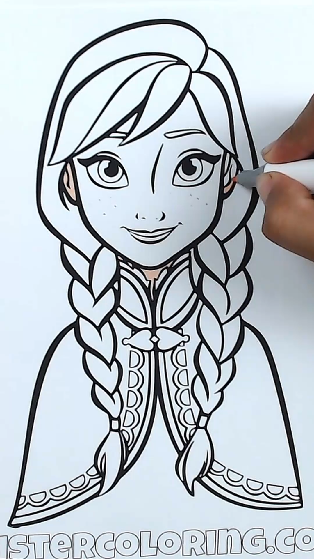 Today We Will Coloring Princess Anna Of Arendelle From Walt Disney Frozen 2 Movie Free C Coloring Pages Disney Princess Coloring Pages Toy Story Coloring Pages