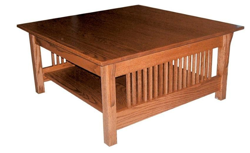 Amish Prairie Mission Square Coffee Table Coffee Table Square Coffee Table Handcrafted Coffee Table