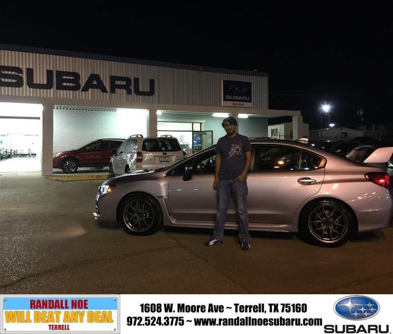 Congratulations to Sam Siddiqui on your #Subaru #Wrx Sti purchase from Ryan Ruiz De Val at Randall Noe Subaru! #NewCar