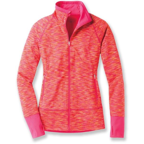 Moving Comfort Foxie Full-Zip Top ($65) ❤ liked on Polyvore featuring activewear, activewear tops, jackets and moving comfort