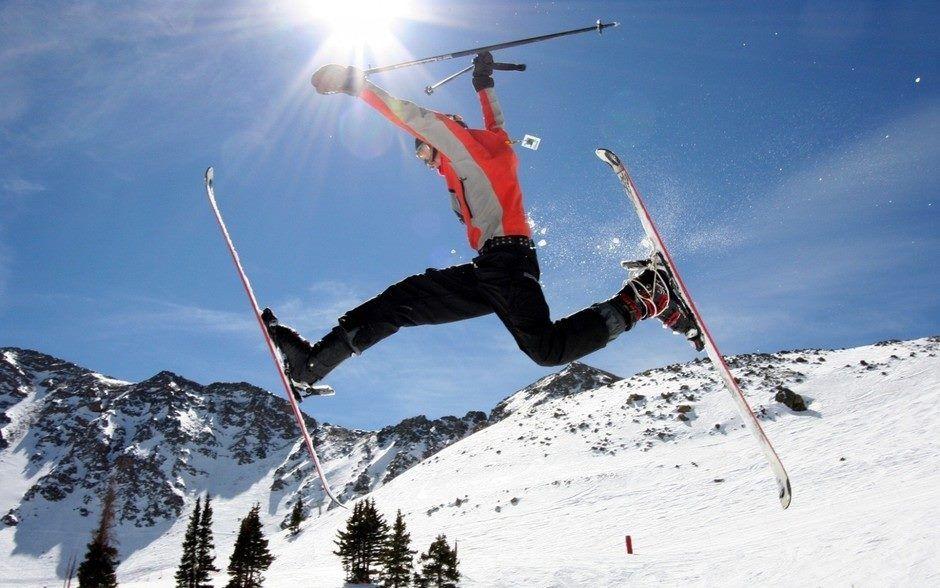 Great fun in the sun while Skiing in the Alps! www