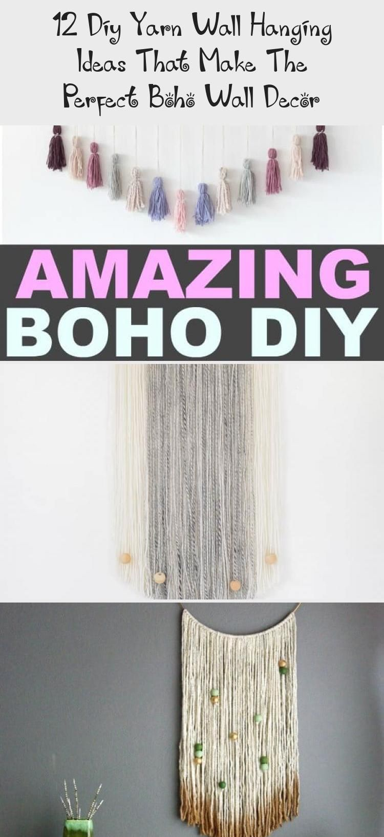 12 DIY boho yarn wall hangings that are easy yarn wall hanging ideas for beginners and make the perfect wall decor for your boho room! #wallhangings #wallart #yarns #boho #bohemian #bedroomdecor #smallspaces #diycrafts #crafts #easycrafts #bohostyle #bohodecorationStudioApartments #bohodecorationParty #bohodecorationBaskets #bohodecorationGarden #bohodecorationJungles