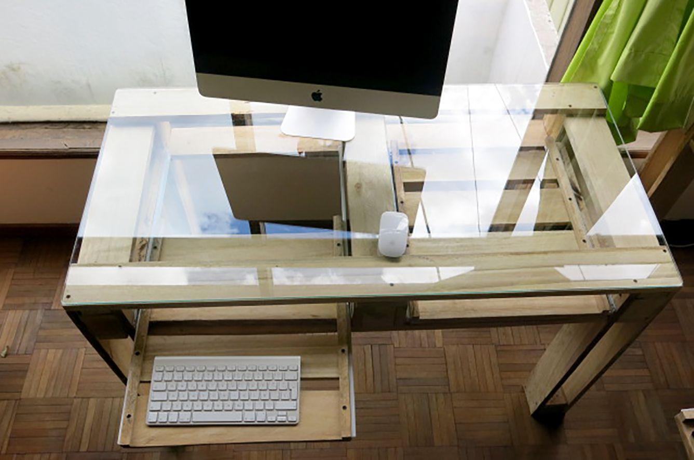 Mesa escritorio en madera de palet para el hogar - Mesa escritorio madera ...