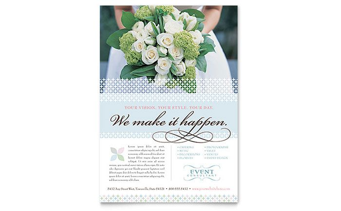 Wedding And Event Planning Flyer Design Template By Stocklayouts