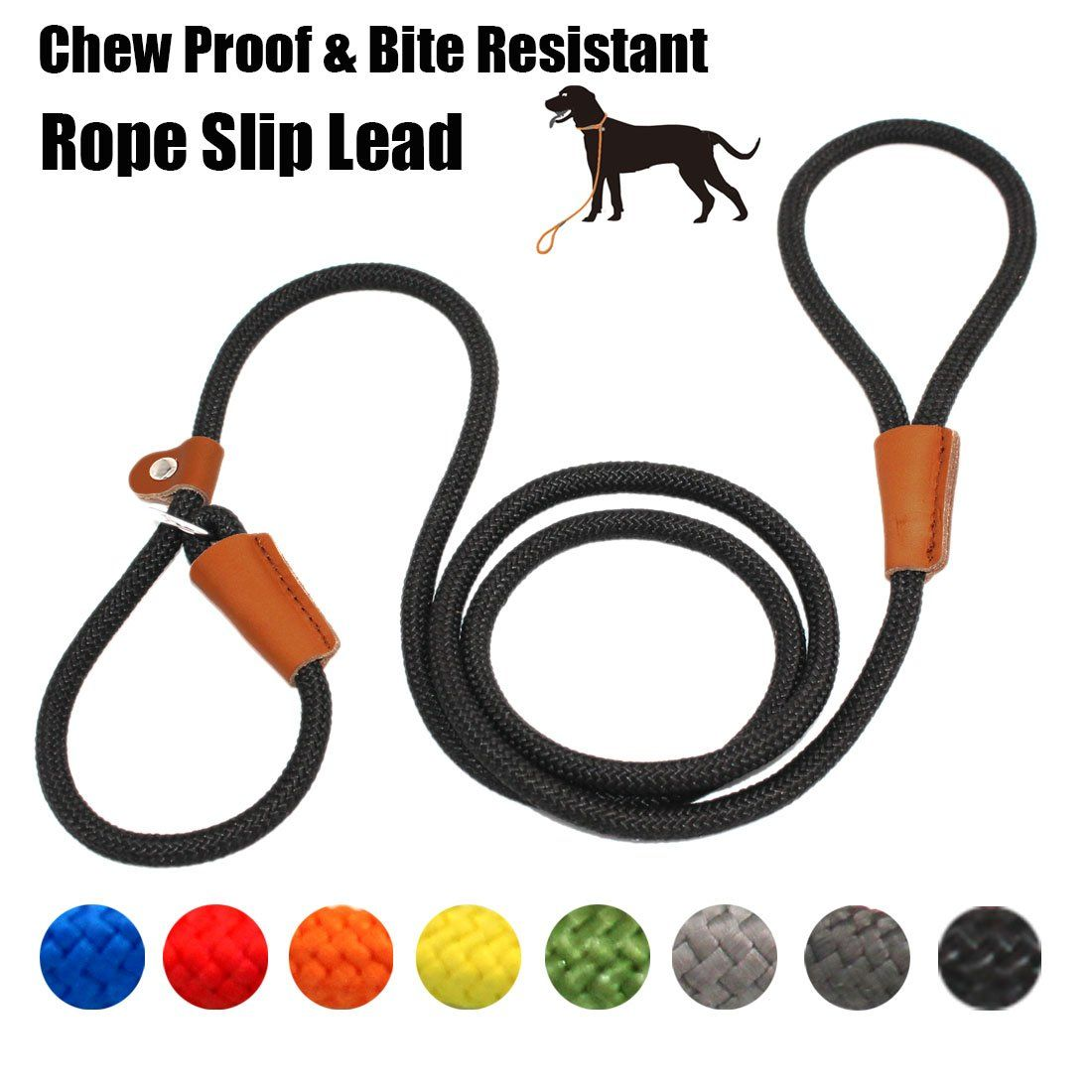 Lynxking Braided Rope Dog Leash Strong Heavy Duty Bite Resistant