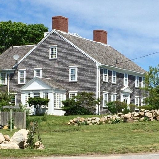 Weathered Shingles And White Trim Classic Cape Cod Home Coastal Interiors Shingle House Coastal Living Rooms