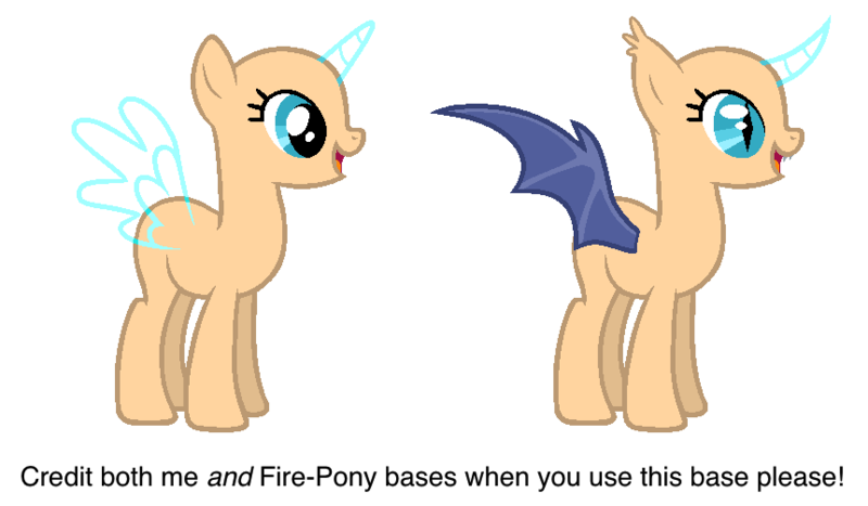 Normal Pony and Batsy Pony - MLP Base by OliviaDoesPonies.deviantart.com on @DeviantArt