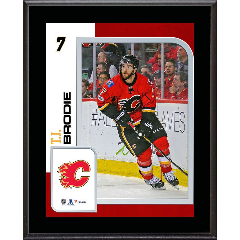 newest 69cfc d7ae1 TJ Brodie Calgary Flames Fanatics Authentic 10.5