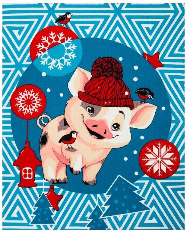 Открытка свинка новый год, открытка жемчужной