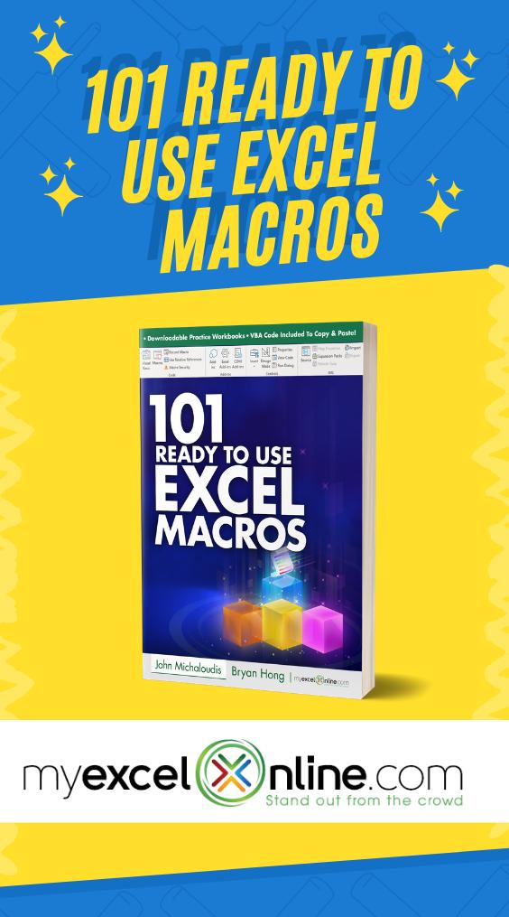 101 Ready To Use Excel Macros EBook Excel macros, Excel
