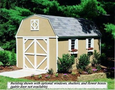 Hartford 10x14 Shed Heritage Series Gambrel Sheds Shedkits Buildingagardenshed Storage Shed Kits Shed Kits Building A Shed