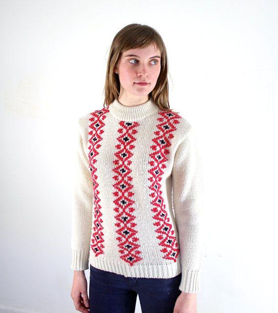 Ski Lodge Sweater • Nordic Sweater • Fair Isle Sweater ...