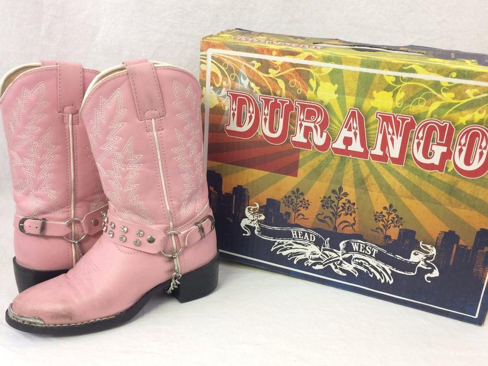 Childrens Durango Western Rhinestone Pink Boots Girls Silver Bling BT568 Cowgirl #Durango #Boots #pinkcowgirlboots #silverrhinestone #yahoo