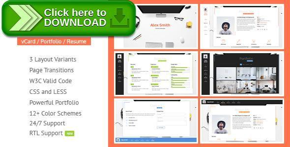 Free nulled Resume CV vCard \ Portfolio download Online resume - online resume download