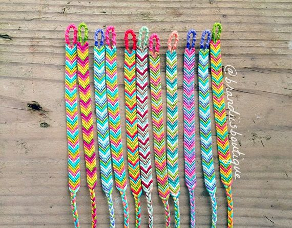 You Can See How She Use Color Genius Chevron Friendship Bracelets Choose Your Own By Brandiisboutique 7 50