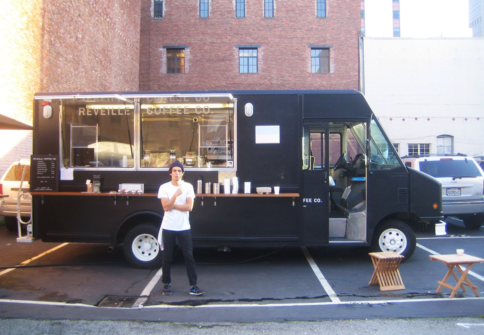 Alchemy Coffee Food Truck Réveille Coffee Company Truck Architecture Interior
