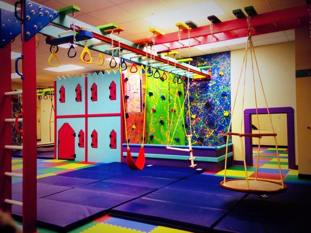 Fun factory sensory gym pbrehab tx kids room fun slide