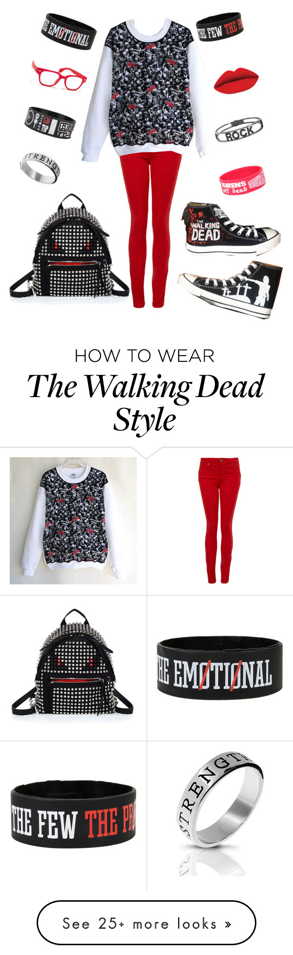 """""""School Style (TWD)"""" by galaxygirl12427 on Polyvore featuring Converse, Paige Denim, Spallanzani, A.J. Morgan, Bling Jewelry and Fendi"""