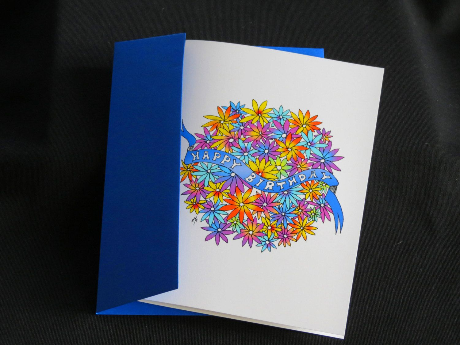 "Blank Art Card - ""Happy Birthday"" - 5 x 7 - Mandala - Floral - Colorful - Whimsical - Joyful - Fun - Cheerful by CreateThriveGrow on Etsy https://www.etsy.com/listing/254985279/blank-art-card-happy-birthday-5-x-7"