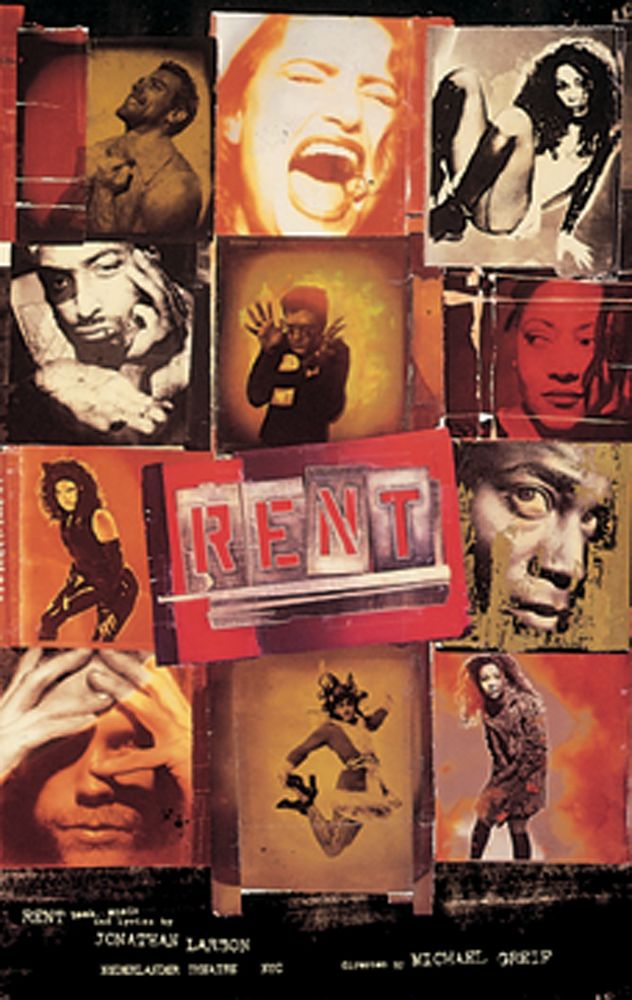 April 29 1996 Rent Broadway Posters Broadway Musicals Posters Musicals