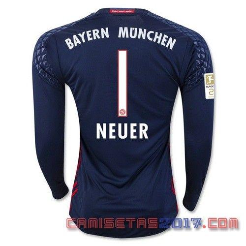 camiseta manga larga portero Neuer Bayern Munich 2016 2017  e378158a90b38
