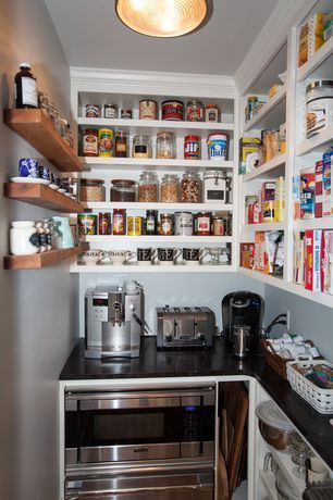 Traditional Pantry With Inplace Shelving Kingston Floating Shelf Bosch Stainless Steel 2 1 Cu Ft Built In Microwave Oven