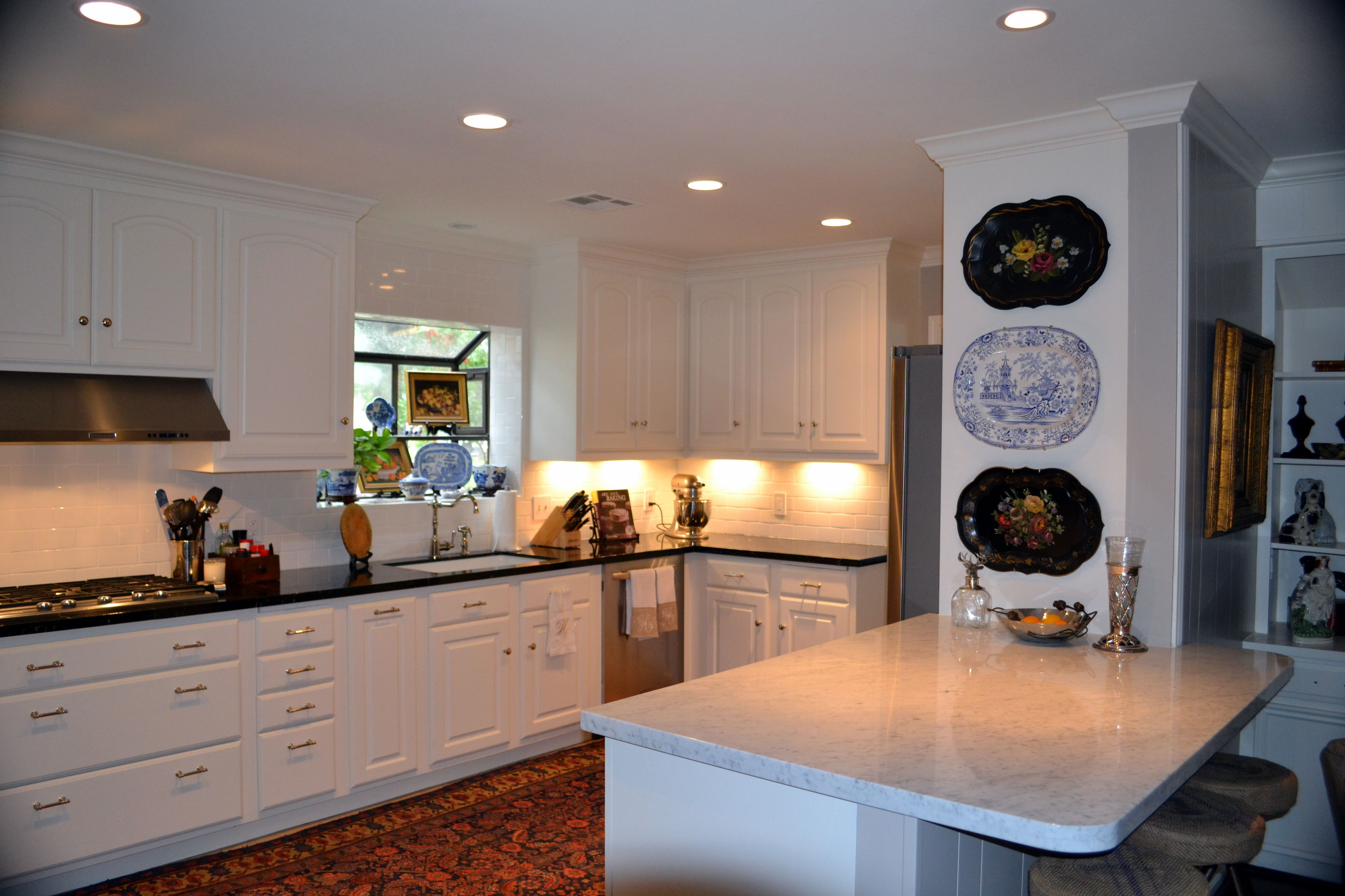 Remodeled Kitchen Walls Sw 7030 Anew Gray Cabinets Trim
