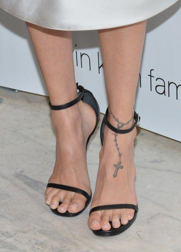 Image result for foot tattoos runway #rosaryfoottattoos