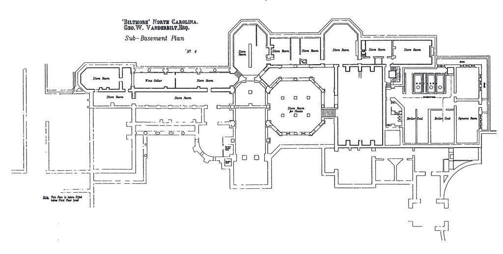 Biltmore Estate Sub Basement Floor Plan Basement Floor Plans Basement Flooring Options Basement Flooring